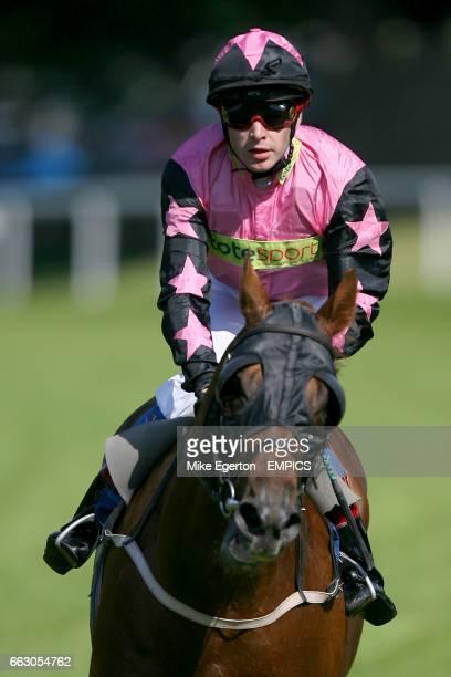 Jockey Jean Pierre Guillambert on Dream Lodge during the Pomfret Stakes