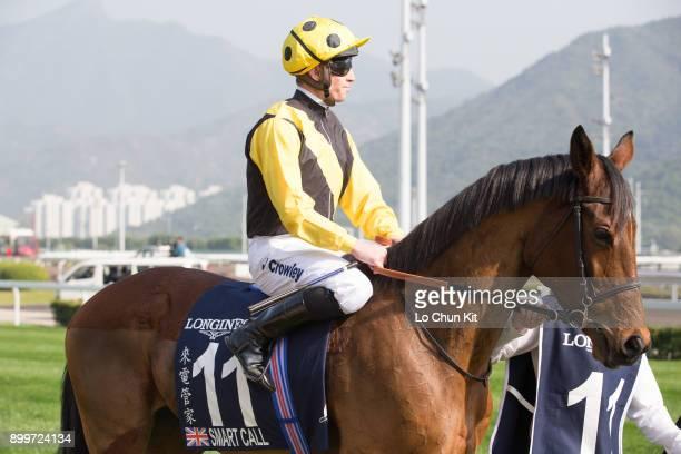 KONG DECEMBER Jockey Jim Crowley riding Smart Call in LONGINES Hong Kong Vase at the Sha Tin Racecourse during the LONGINES Hong Kong International...