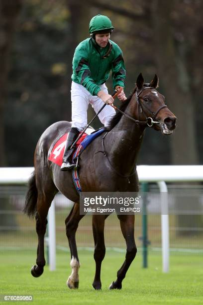 Jockey Jimmy Fortune on Jack O'lantern after the Crownhotelbawtrycom EBF Maiden Stakes