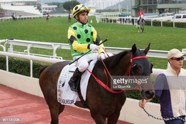 KONG FEBRUARY Jockey Joao Moreira riding Nothingilikemore finished 4th during Race 9 The Hong Kong Classic Cup at Sha Tin racecourse on February 18...