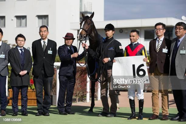 Jockey Joao Moreira Trainer Naosuke Sugai And Owners Celebrate After La Felicite Winning The Race 5