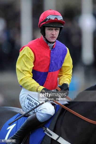 Jockey Joe Tizzard on Hey Big Spender prior to the At The Races Rehearsal Chase