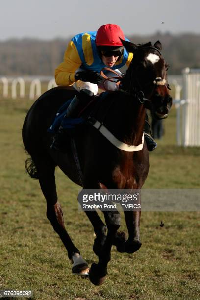 Jockey Joshua Guerriero on Moleskin during the Arkell's Brewery Novices' Handicap Chase