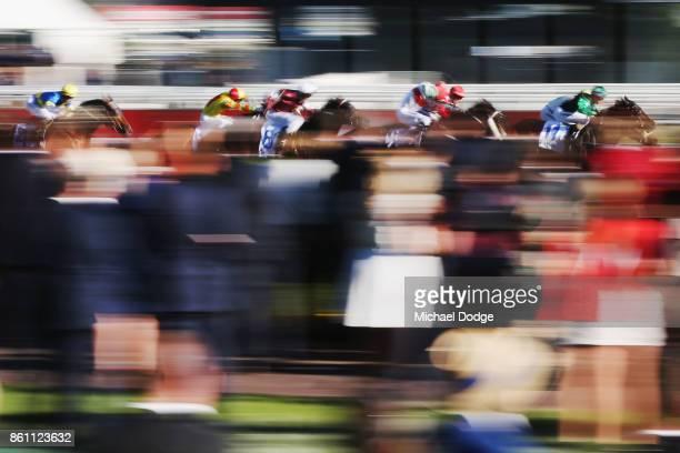 Jockey Katelyn Maylon riding Super Cash wins race 10 the Keno Kwikpik Schillaci Stakes during Melbourne Racing on Caulfield Guineas Day at Caulfield...