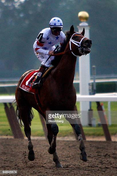 Jockey Kent Desmoreaux rides Big Brown to a last place finish at Belmont Park during the start of the 140th Belmont Stakes in Elmont New York US on...