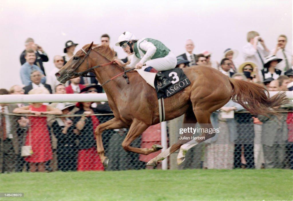 Jockey Kieren Fallon riding Bosra Sham at Ascot, 17th June 1997.