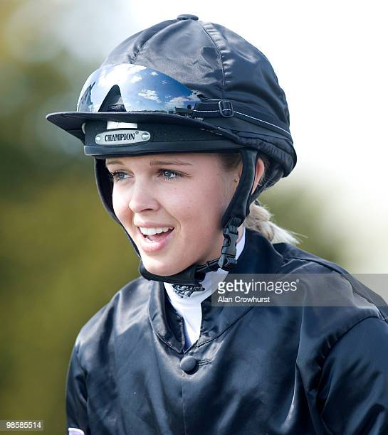 Jockey Leonna Mayor at Folkestone racecourse on April 20 2010 in Folkestone England