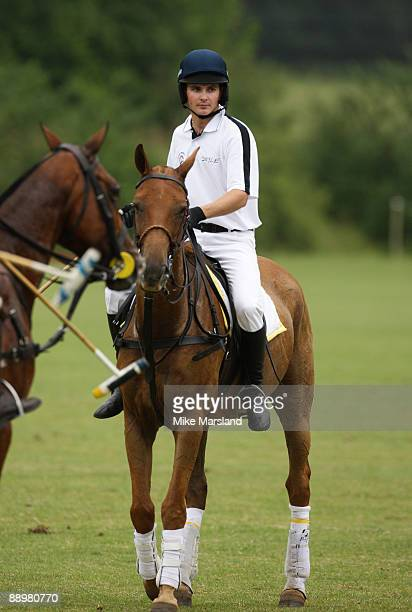 Jockey Liam Treadwell in action at the Rundle Cup at Tidworth Polo Club on July 11 2009 in Wiltshire England
