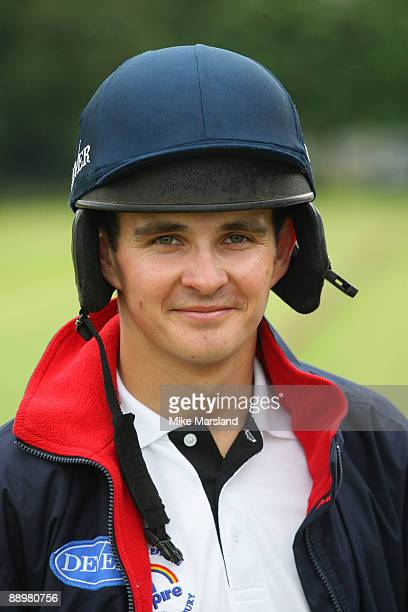 Jockey Liam Treadwell poses at the Rundle Cup at Tidworth Polo Club on July 11 2009 in Wiltshire England