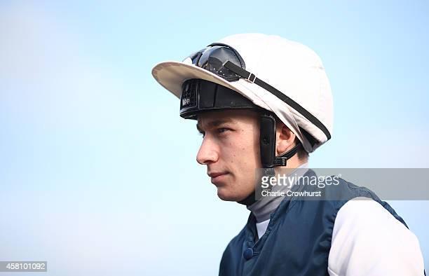 Jockey Luke Morris at Lingfield racecourse on October 30 2014 in Lingfield England