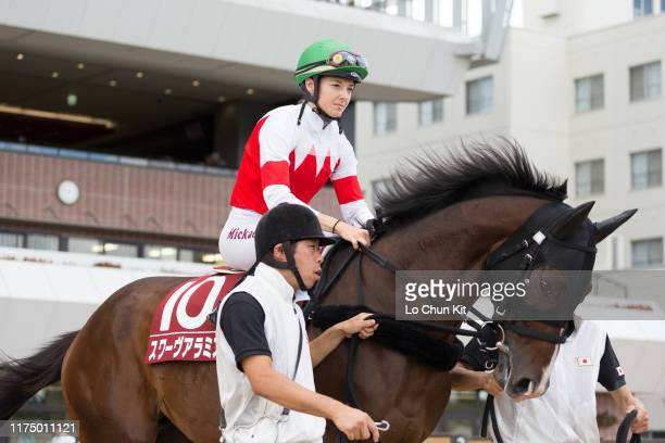Jockey Mickaelle Michel riding Suave Aramis during the Race 10 2019 World AllStar Jockeys 3rd Leg at Sapporo Racecourse on August 25 2019 in Sapporo...
