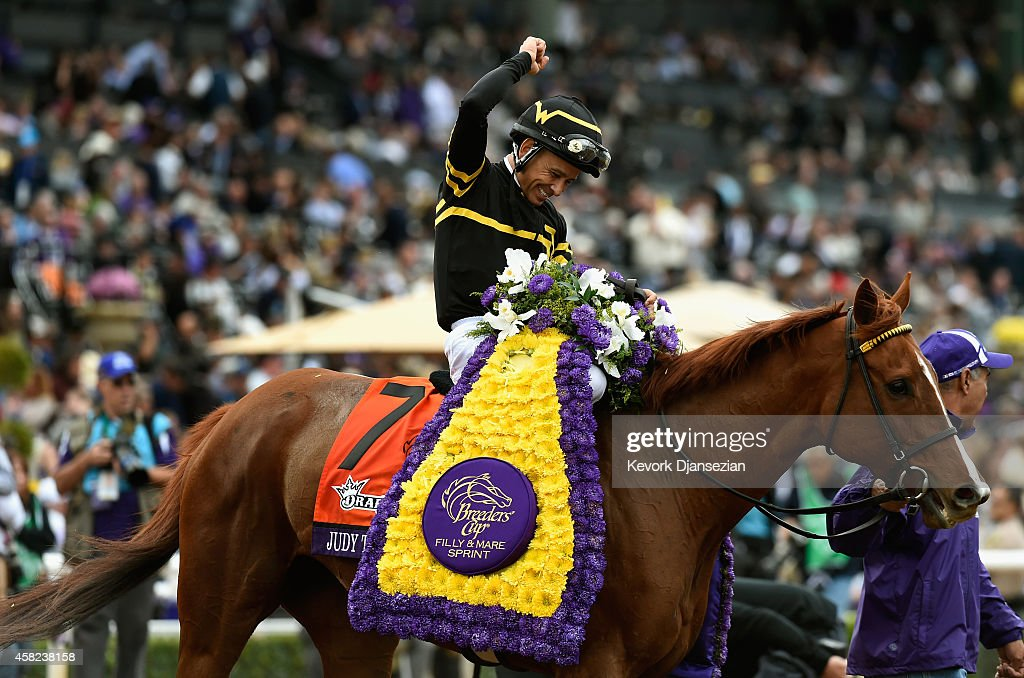 2014 DraftKings Breeders' Cup Filly and Mare Sprint : News Photo