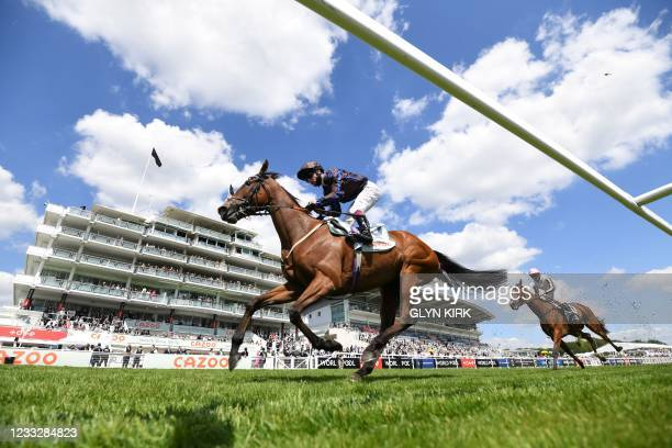 Jockey Oisin Murphy on Parent's Prayer on his way to winning the Princess Elizabeth Stakes on the second day of the Epsom Derby Festival horse racing...