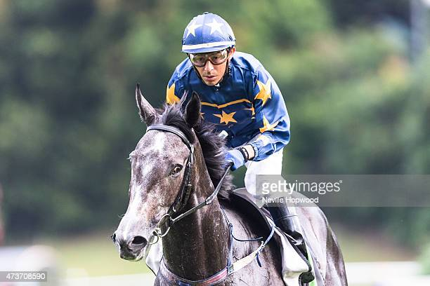 Jockey Oscar Chavez at Kranji racecourse Singapore during Singapore International Airlines Cup day 2015 in Singapore