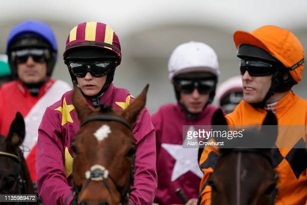 Jockey Rachael Blackmore on Gold Cup Day at Cheltenham Racecourse on March 15 2019 in Cheltenham England