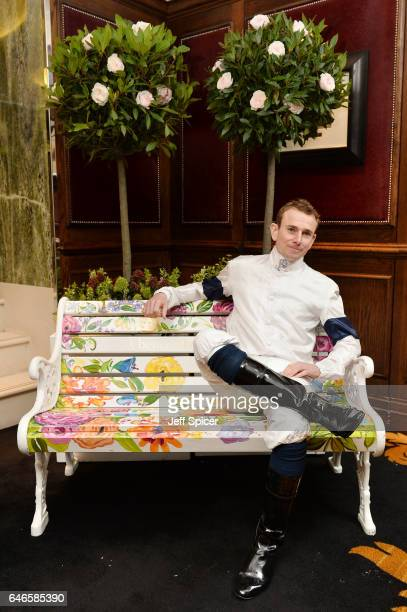 Jockey Ryan Moore attends a photocall as Ascot Racecourse celebrates the announcement of the new 'Village Enclosure' for Royal Ascot 2017 at The...