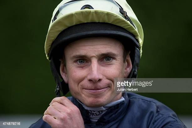 Jockey Ryan Moore prepares to ride in the 2010 The 32Redcom Handicap Stakes Race run at Kempton Racecourse on May 27 2015 in Sunbury England
