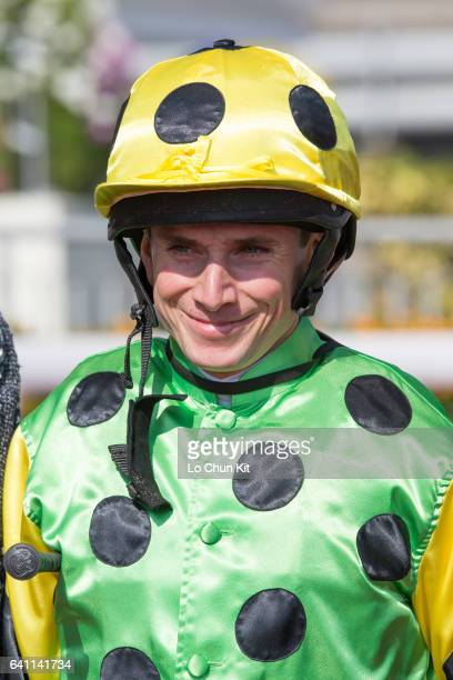 Jockey Ryan Moore wins the Race 4 Tai Ping Shan Handicap at Sha Tin racecourse on January 22 2017 in Hong Kong Hong Kong