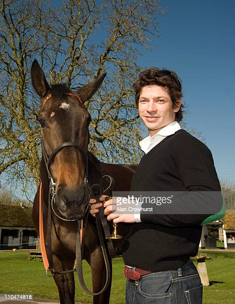 Jockey Sam Waley-Cohen with Long Run at Seven Barrows racing stables, home of 2011 Cheltenham Gold Cup winner Long Run, who is trained by Nicky...