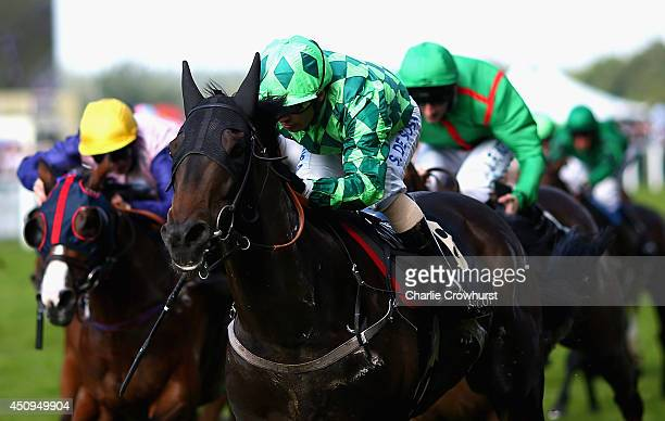 Jockey Silvestre de Sousa riding Louis The Pious wins the Buckingham Palace Stakes during day four of Royal Ascot at Ascot Racecourse on June 20 2014...