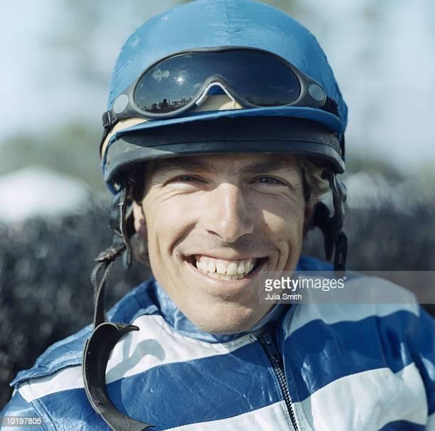 Jockey smiling, portrait