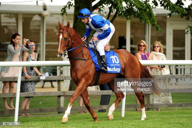 Jockey Steven Arnold on Star Witness prior to the Darley July Cup