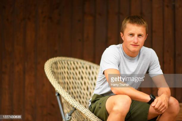 Jockey Tom Marquand poses for a portrait on May 27 2020 in Hungerford England