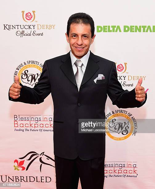 Jockey Victor Espinoza attends the 141st Kentucky Derby Unbridled Eve Gala at Galt House Hotel Suites on May 1 2015 in Louisville Kentucky