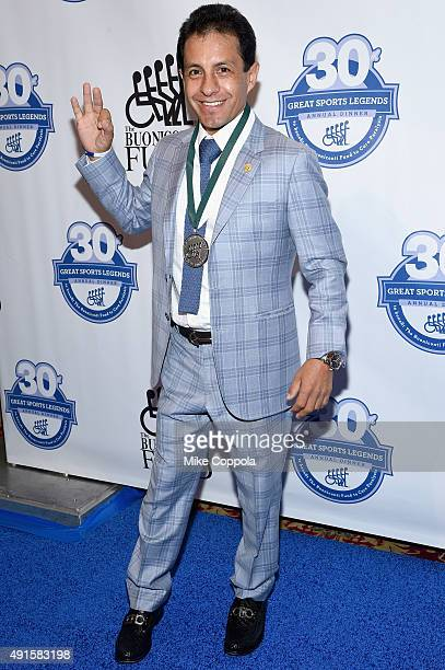Jockey Victor Espinoza attends the 30th Annual Great Sports Legends Dinner to benefit The Buoniconti Fund to Cure Paralysis at The Waldorf Astoria on...