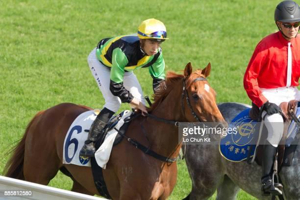 Jockey Vincent Ho Chakyiu riding Ugly Warrior wins Race 2 Carnarvon Handicap at Sha Tin racecourse on December 3 2017 in Hong Kong Hong Kong