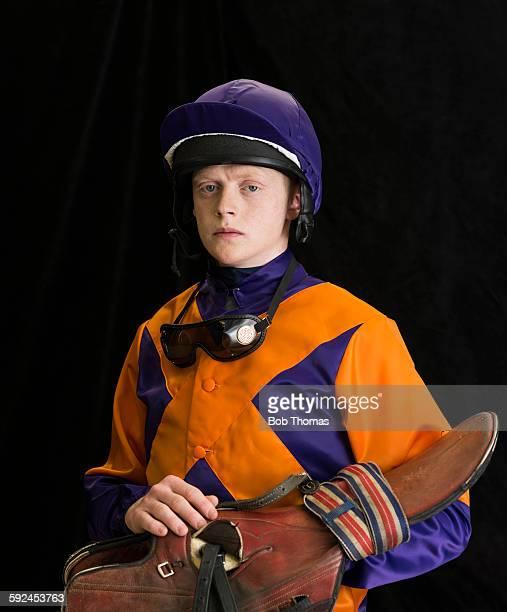 Jockey with Saddle and Helmet