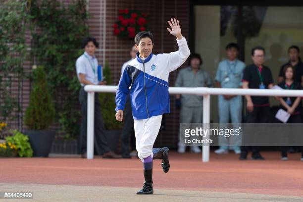 Jockey Yutaka Take attends the 2017 World AllStar Jockeys Closing ceremony at Sapporo Racecourse on August 27 2017 in Sapporo Hokkaido Japan