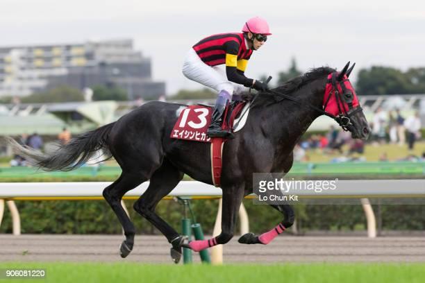 Jockey Yutaka Take riding A Shin Hikari during the Mainichi Okan at Tokyo Racecourse on October 11 2015 in Tokyo Japan