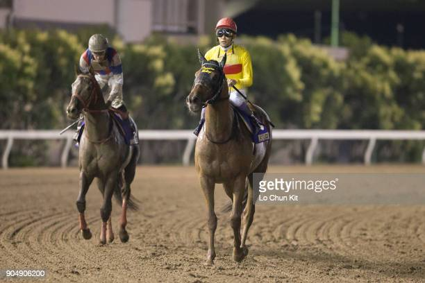 Jockey Yutaka Take riding Copano Rickey wins the Teio Sho at Ohi Racecourse in Tokyo Japan on June 29 2016 This race began in 1978 as a spring dirt...