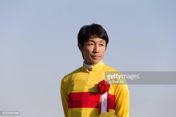 Jockey Yutaka Take wins Kashiwa Kinen at Funabashi Racecourse on May 5 2016 in Funabashi Chiba Japan
