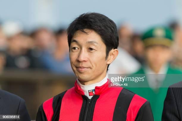 Jockey Yutaka Take with A Shin Hikari wins the Mainichi Okan at Tokyo Racecourse on October 11 2015 in Tokyo Japan