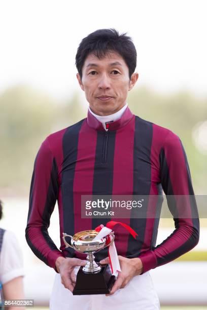 Jockey Yutaka Take with Queen's Best wins the Race 9 Chitose Tokubetsu at Sapporo Racecourse on August 27 2017 in Sapporo Hokkaido Japan