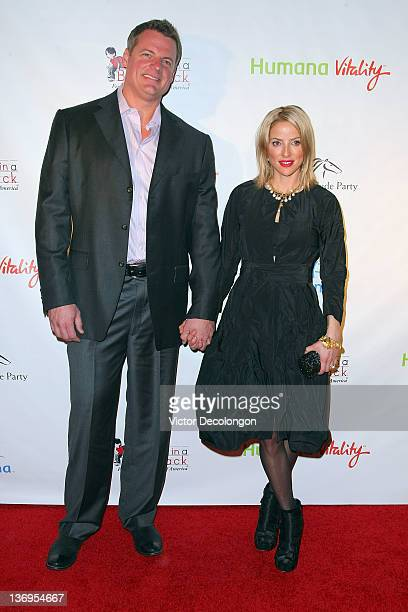 Jockey/Actress/Model Chantal Sutherland and Dan Kruse arrive at the Los Angeles Kentucky Derby Prelude Party at The London Hotel on January 12 2012...