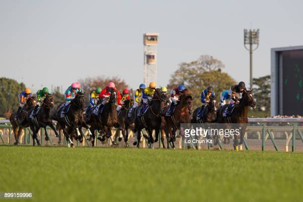 Jockeys compete the Japan Cup in association with Longines at Tokyo Racecourse on November 26, 2017 in Tokyo, Japan.