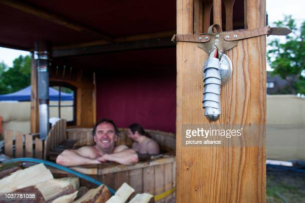 A jockstrap hangs off a wall of a bathhouse during the 8th German Knighthood Championships in Winsen Germany 30 May 2015...
