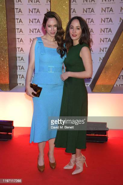 Jodhi May and Lydia Leonard attend the National Television Awards 2020 at The O2 Arena on January 28 2020 in London England