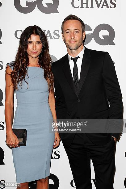 Jodhi Meares and Alex O'Loughlin arrive at the GQ Australia Men of the Year Awards at the Sydney Opera House on November 22 2011 in Sydney Australia