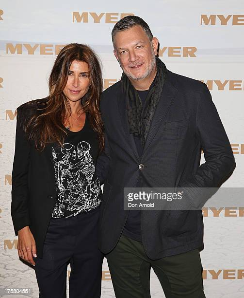 Jodhi Meares and David Bush arrive at the Myer Spring/Summer 2014 Collections Launch at Fox Studios on August 8 2013 in Sydney Australia