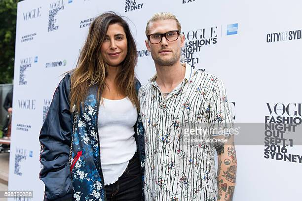 Jodhi Meares and Nick Finn during Vogue American Express Fashion's Night Out on September 1 2016 in Sydney Australia