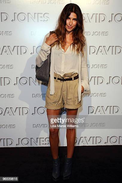Jodhi Meares arrives on the red carpet for the David Jones Autumn/Winter 2010 Fashion Launch at the Hordern Pavilion on February 10 2010 in Sydney...