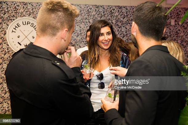 Jodhi Meares at the David Jones Vogue Bar powered by Fitbit during Vogue American Express Fashion's Night Out on September 1 2016 in Sydney Australia