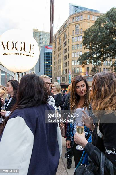 Jodhi Meares during Vogue American Express Fashion's Night Out on September 1 2016 in Sydney Australia