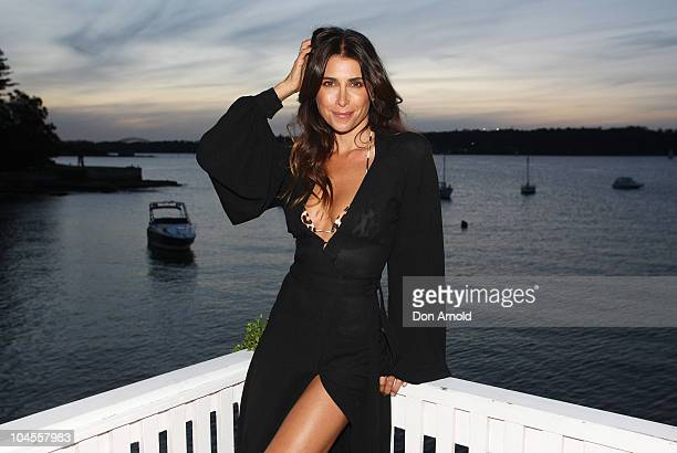 Jodhi Meares poses at the launch of Tigerlily's new limited edition luxury line 'Jodhi Meares for Tigerlily' in Vaucluse on September 30 2010 in...