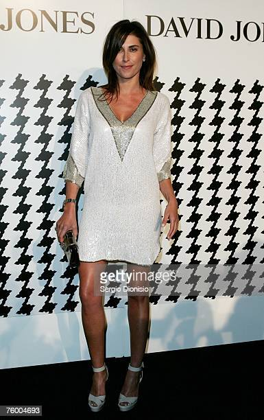 Jodhi Mears poses during the David Jones Summer 2007 Collection Launch at Fox Studios on August 7 2007 in Sydney Australia