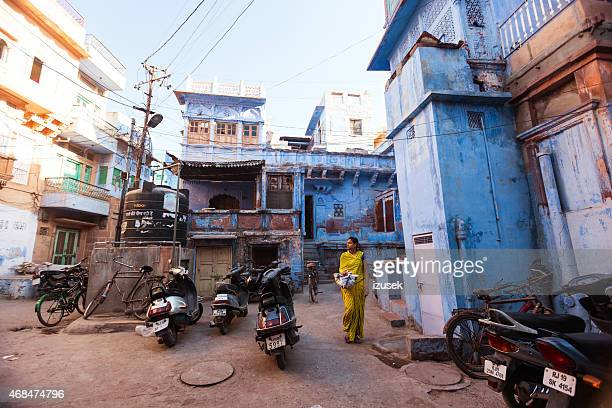 jodhpur - blue city, india - izusek stock pictures, royalty-free photos & images
